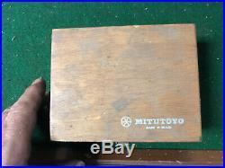 MACHINIST MILL LATHE MILL Machinist Pr of Mitutoyo V Blocks & Clamps in Box BkCs