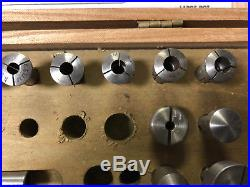 MACHINIST South Bend LATHE MILL Micro Lathe Sherline Collet Set in Wood Case ShE
