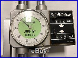 MACHINIST South Bend LATHE MILL Mitutoyo 192 116 12 Twin Beam Dial Height Gage