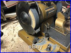MACHINIST South Bend TOOL LATHE MILL Darex Drill Sharpener Grinder with Collets