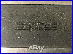 MACHINIST TOOLS LATHE MILL 2 Starrett No 568 V Blocks and Clamps OfcCb