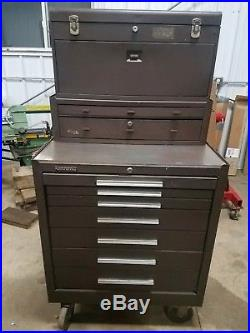 MACHINIST TOOLS LATHE MILL 3 Part Kennedy Machinist Tool Box shipping available