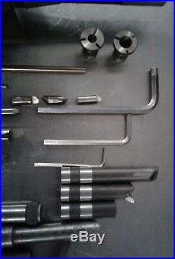 MACHINIST TOOLS LATHE MILL Bakuer R8. 1/4-6 Adjustable Boring Head. Italy