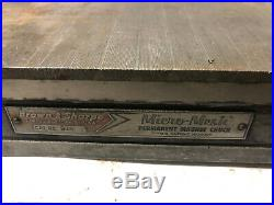 MACHINIST TOOLS LATHE MILL Brown & Sharpe Permanent Magnetic Chuck 6 by 18 Drw