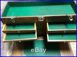 MACHINIST TOOLS LATHE MILL Gerstner Oak Machinist Tool Box 052 26