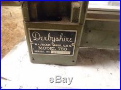 MACHINIST TOOLS LATHE MILL Machinist Derbyshire Jewelers Lathe Bed Ways 750