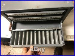 MACHINIST TOOLS LATHE MILL Machinist Huot Machine Screw Tap Cabinet Case OfCe