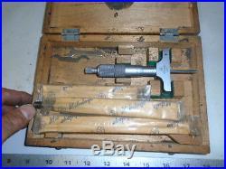 MACHINIST TOOLS LATHE MILL Machinist Mitutoyo Depth Gage Gauge Micrometer