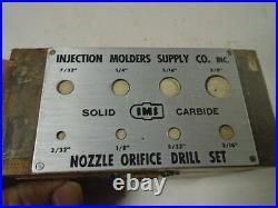 MACHINIST TOOLS LATHE MILL Machinist Nozzle Orifice Drill Set Solid Carbide