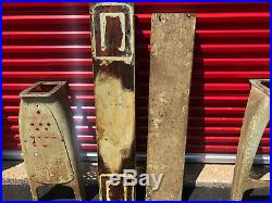 MACHINIST TOOLS LATHE MILL Machinist Pair Cast Iron Atlas Legs with Wood Planks