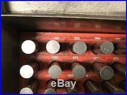 MACHINIST TOOLS LATHE MILL Machinist Pin Plug Gage Gauge Set in Case AucSt