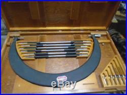 MACHINIST TOOLS LATHE MILL Machinist Starrett # 724 18 to 24 Micrometer Set