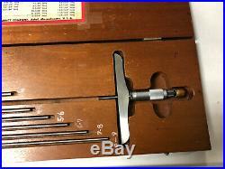 MACHINIST TOOLS LATHE MILL Machinist Starrett Depth Gage Micrometer GrncB