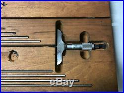 MACHINIST TOOLS LATHE MILL Machinist Starrett Depth Micrometer Gage ShA
