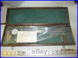 MACHINIST TOOLS LATHE MILL Mitutoyo 12 Dial Caliper Gage in Wood Case