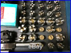MACHINIST TOOLS LATHE MILL Nice Unusual Acorn Die Set in Case Tap SHx