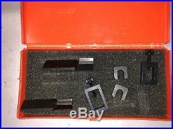 MACHINIST TOOLS LATHE MILL Pair Micro V Blocks Set in Case USA Made ShE