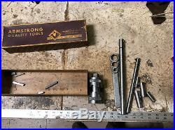 MACHINIST TOOLS LATHE MILL RARE! Armstrong 3 Bar Boring Tool Set in Box DrWx
