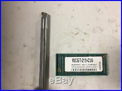 MACHINIST TOOLS LATHE MILL Solid Carbide Boring Bar with Inserts 1/2 sh A