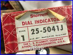 MACHINIST TOOLS LATHE MILL Starrett 25 5041J Large Dial Indicator Gage OkCb