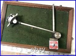 MACHINIST TOOLS LATHE MILL Starrett Magnetic Indicator Stand & Gage InVs TpRn