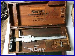 MACHINIST TOOLS LATHE MILL Starrett No 255 14 Height Gage Gauge DrWy