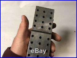 MACHINIST TOOLS LATHE MILL Tool Makers Ground Set Up Block Threaded Holes JwCb
