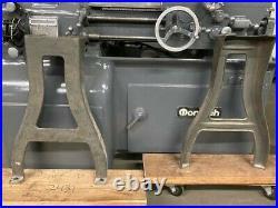 MACHINIST TOOLS LATHE Set of Vintage Cast Iron Lathe Legs LOGAN