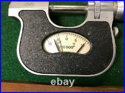 MACHINIST TOOLS MILL LATHE Machinist Carl Mahr Indicating Micrometer Gage RndCb