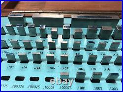 MACHINIST TOOLS MILL LATHE Machinist Gage Gauge Blocks in Case OfCe FrBk