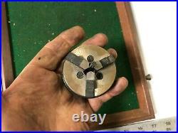 MACHINIST TOOLS MILL LATHE Machinist Jewelers 2 1/4 3 Jaw Lathe Chuck KndyBx