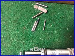 MACHINIST TOOLS MILL LATHE Starrett Pin Anvil Micrometer Gage with Anvils OkCb a