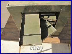 MACHINIST TOOL LATHE MILL Bench Top Drill Cabinet Index Holder