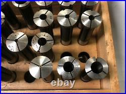 MACHINIST TOOL LATHE MILL Edelstaal Collets in Wood Case for Maximat 10 OfCe