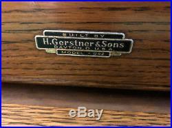 MACHINIST TOOL LATHE MILL Gerstner Oak Machinist Tool Box Number 042