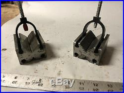 MACHINIST TOOL LATHE MILL Machinist 2 V Blocks and Clamps ShX g