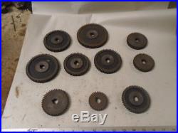 MACHINIST TOOL LATHE MILL Machinist Lot of Lathe Gears for South Bend 5/8 Bore