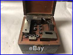 MACHINIST TOOL LATHE MILL Precision Lassy Ground Angle V Block Set in Wood Case
