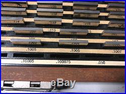 MACHINIST TOOL LATHE MILL Starrett Webber Croblox Gage Block Set Model SS81A1