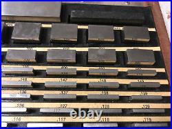 MACHINIST TOOL LATHE MILL Starrett Webber Gage Block Set Model SS81A1