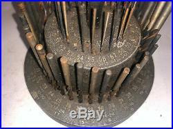 MACHINIST TOOL LATHE MILL Vintage Advertising Union Drill Index RARE Round Metal