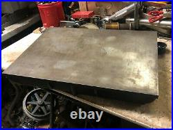 MACHINIST TOOL LATHE Machinist Cast Surface Plate 22 by 16 by 3 High