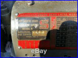 MACHINIST TOOL LATHE Machinist South Bend Model A 9 Lathe LONG BED