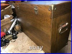 MACHINIST TOOL LATHE Vintage Gerstner Oak Machinist Tool Box Model 052 BsmnT