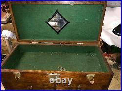 MACHINIST TOOL LATHE Vintage Gerstner Oak Machinist Tool Box inBsmnT