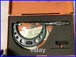MACHINIST TOOL MILL LATHE Machinist Mitutoyo 2 3 Blade Micrometer Gage OkCb