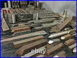 MIXED Tools Lot VINTAGE Machinist Tools Lathe Metal Milling Blocks Plates Gages