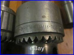 Machinist Lathe Mill Drill Chuck Tool Lot Jacobs 16n 34 30 7 1A 0 + ROHM YUASA