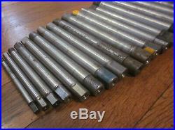 Machinist Lathe Mill Mandrel Tool Set 1/4 1 3/4 Morse USA Poland 21pc FreeSH