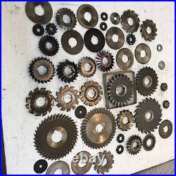Machinist Lathe Mill Tool Lot /44 Side Milling Machine & Gear Cutters